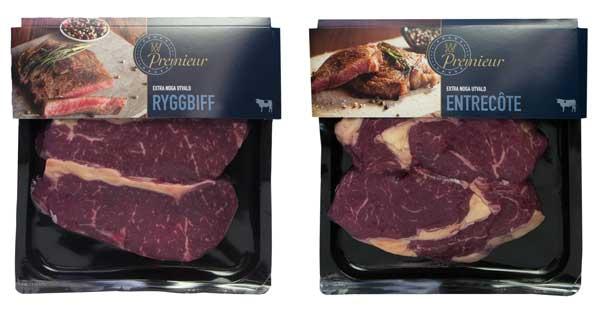 Vleesverpakking verpakkingsontwerp steak