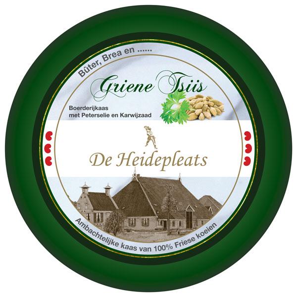 Verpakkingsontwerp etiket griene tsiis groene kaas