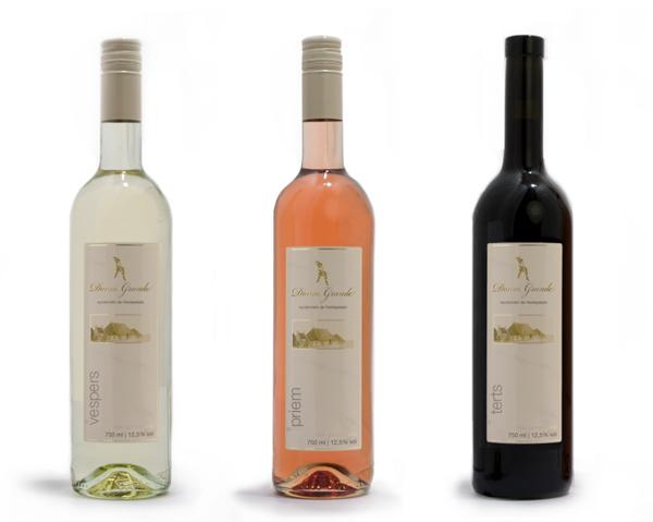 Verpakkingsontwerp wijn etiket de heidepleats